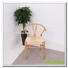 Cadeira de mesa do hotel Audu / cadeira de uso interno do interior de madeira maciça