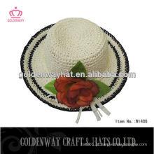 Chapéu de palha de papel chapéus de sol flexível para decorar