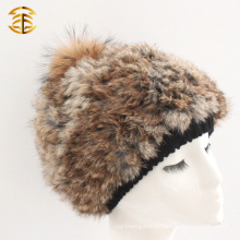 Factory Direct Supply Girls Mode Bonnet d'hiver en fourrure de lapin