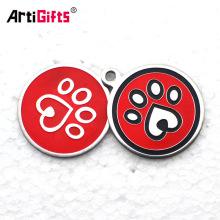 Изготовленные на заказ оптом оптом дешевые лазерная гравировка металла алюминия пустой круг собака теги