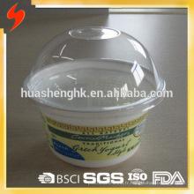 Tasses jetables jetables de smoothie du plastique 8oz / 230ml de plastique de catégorie comestible de qualité