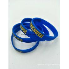Brassards en silicone sur mesure, bracelets en silicone pour les cadeaux de promotion