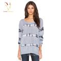 Ladies loosr knit wool cashmere sweater knitting pattern