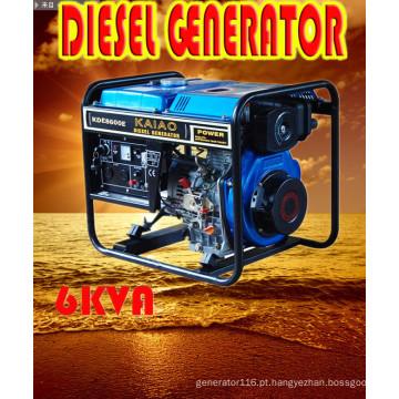 6kVA / 5.5kw tipo aberto gerador de potência diesel