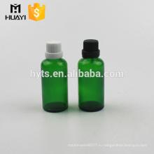 50мл зеленая стеклянная бутылка эфирного масла с tamperproof крышка для эфирного масла