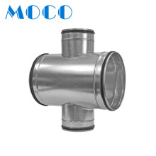Hvac System Air Duct Fittings Cross Three-way Spiral Duct Fittings