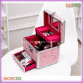 Cute Pink Small Size Aluminum Jewellery Travel Case (SACMC052)