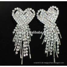 Promotion Braut elegante Ohrringe Silber hängende Kristall Ohrstecker