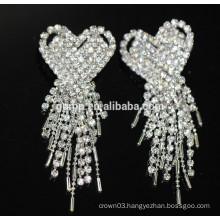 Promotion Bridal Elegant Earrings Silver Hanging Crystal Stud Earrings