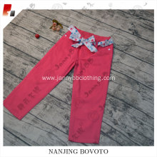 adjustable sash rose red denim jeans pants