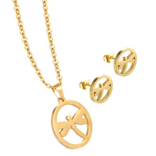Beautiful Personalized Charm Necklace Jewelry Set Gold Necklace and Pendant for Women
