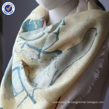 Reine Mongolei Qualität Kalligraphie Neues Design Geschenk Bestellung Jacquard 50% Wolle + 50% Seidenschal Stola SWW792