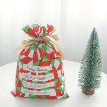 Grüne rote Weihnachtsplastik-weiche Geschenkverpackungstasche