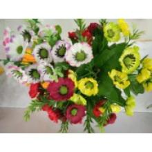 Die künstliche Blume mit Beutelklappe verzieren