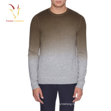 100% Mongolia Cashmere Knitting Men Fashion Sweater Pullover