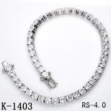 Hotsale Moda Jóias 925 Pulseira de tênis de prata esterlina (K-1403, K-1404, K-1405, K-1406, K-1407, K-1408)