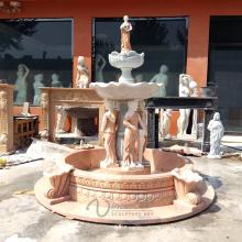 Fonte de água da senhora mármore de 4 estações para a venda