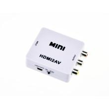 Mini HDMI portátil e flexível para conversor Cvbs