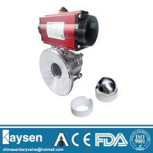 3A Pneumatic Sanitary tank bottom ball valve