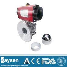Válvula de esfera da parte inferior do tanque sanitário pneumático 3A