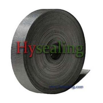 Fita de grafite flexível ondulada com adesivo