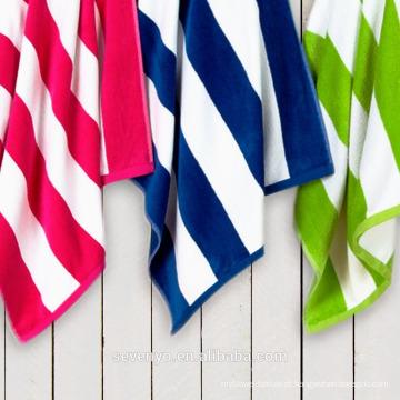 Alta qualidade macio e durável clássico Stripe Beach Towel BT-013 China fornecedor