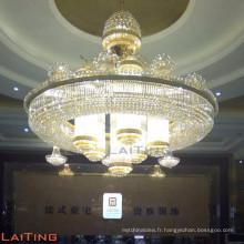 Énorme taille cristal plafond hall éclairage église lustre