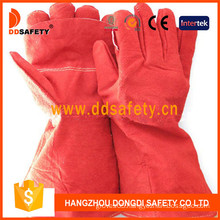 Red Cow Split Leather Welder Gloves (DLW635)