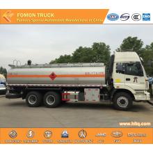 Camion-citerne à carburant en acier inoxydable 6 X 4 de FOTON