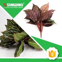 china ramos e folhas artificiais à prova de UV para supermercado decorar