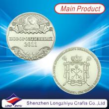 Moedas comemorativas barato metal personalizado coletivas moedas medalhas / medalhão de prata emblemas / moedas novo logotipo do projeto (LZY-1300047)