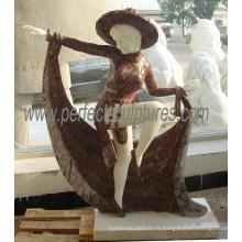 Statue en sculpture sur marbre en marbre pour décoration de jardin (SY-C1171)