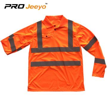 hi vis reflective design safety polo shirt