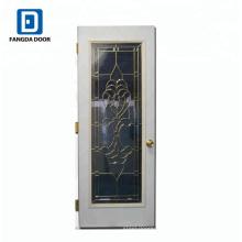 Porte en verre de luxe avec charnières de porte en laiton