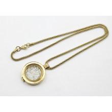 Ожерелье из золоченого сплава с натуральной оболочкой