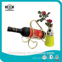 Estante de vidro para vinho / rack de vinhos de metal