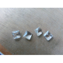 Perles transparentes en pierres fantaisie