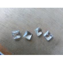 Contas de pedras extravagantes transparentes