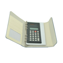 8 Digit Coil PU Foldable Notebook Calculator