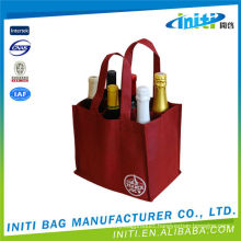 Promotional high quality luxury packaging bag wine glass carrying bag
