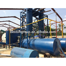 CAP-6T/D, The Size of reactor is D2200*L6000mm, professional used rubber pyrolysis plant to oil