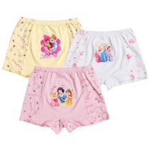 100% algodón imprimió ropa interior de la muchacha de la historieta / ropa interior de los niños / bragas de la muchacha