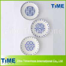 Conjunto de 5 placas de massas de porcelana com decalque