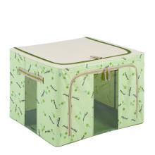 Saco de armazenamento de nylon verde que dobra a caixa de armazenamento impermeável (HX-W002S)