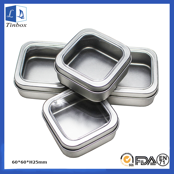 Square Metal Tins With Lid