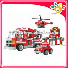 697pcs Fire fighting building block toy blocks sets