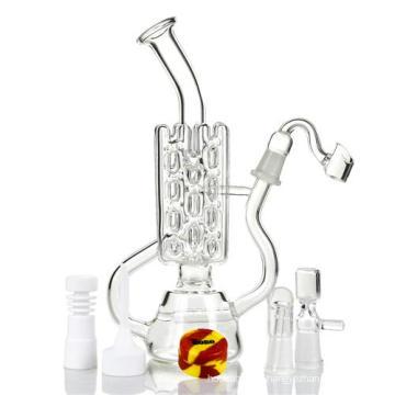 Reticulated Pip Oil Perc Oil Rig Glass Fumeur d'eau (ES-GB-418)