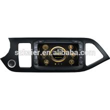 Nouveau lecteur de gps de voiture pour KIA picanto avec GPS / Bluetooth / Radio / SWC / Internet virtuel 6CD / 3G / ATV / iPod / DVR