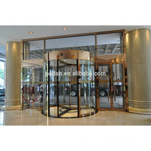 Puerta giratoria de 3 alas de hotel con acero inoxidable