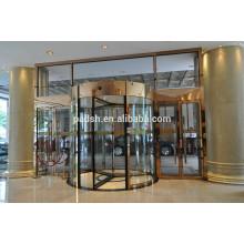 Porte en verre tournante de haute qualité